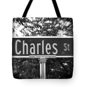 Ch - A Street Sign Named Charles Tote Bag