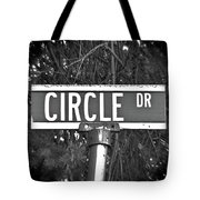 Ci - A Street Sign Named Circle Tote Bag