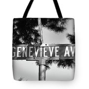 Ge - A Street Sign Named Genevieve Tote Bag
