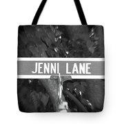 Je - A Street Sign Named Jenni Tote Bag
