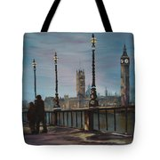 An Evening Stroll Along The Thames  Tote Bag