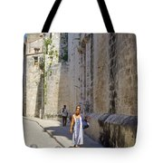 A Stroll By The Cathedral Tote Bag