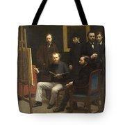A Studio At Les Batignolles 1870 Tote Bag
