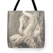 A Study Of Rodin's Kiss In His Studio Tote Bag