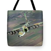 A Sukhoi Su-25s Of The Bulgarian Air Tote Bag