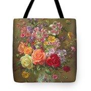 A Summer Floral Arrangement Tote Bag
