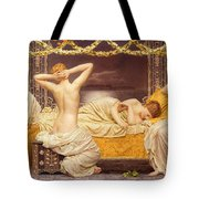 A Summer Night Tote Bag by Albert Joseph Moore