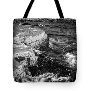 A Summer's Day At Nubble Light, York, Maine  -67969-bw Tote Bag