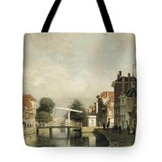 A Sunlit Canal With A Draw Tote Bag