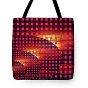 A Sunset In Weave Tote Bag