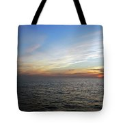 A Sunset On The Last Day At Sea Tote Bag