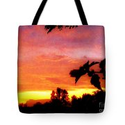 A Sunset With A Different Mood Tote Bag