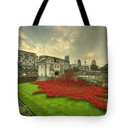 A Sweep Of Poppies  Tote Bag