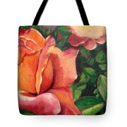 A Tale Of Two Roses Tote Bag