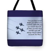 A Taste Of Flight Tote Bag by April Wietrecki Green