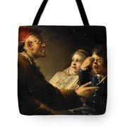 A Teacher And His Pupils Tote Bag