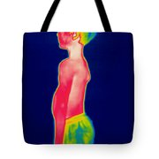 A Thermogram Of A Boy In Shorts Profile Tote Bag