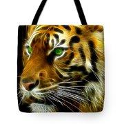 A Tiger's Stare Tote Bag