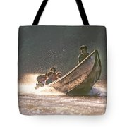 A Tigertail Boat On The Ping River Tote Bag