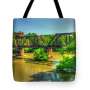 A Time Gone By Railroad Bridge Lumber City Georgia Tote Bag