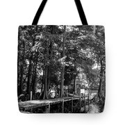 A Time To Go Fishing Bw Tote Bag
