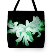 A Touch Of Green On The Lilies Tote Bag
