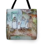 a touch of Holland scroll Tote Bag