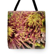 A Touch Of Yellow On Pink Mums Tote Bag