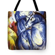 A Tower Of Blue Horses Tote Bag