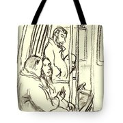 A Train Composition, Nyc Tote Bag
