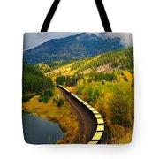 A Train Of Golden Grain  Tote Bag