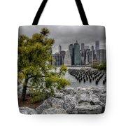 A Tree Grows In Brooklyn Looking At Manhattan Tote Bag