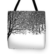A Tree In Snowy Winter Tote Bag