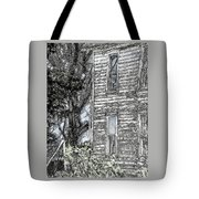 A Tree In The Backyard Tote Bag