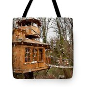 A Treehouse For All Seasons Tote Bag