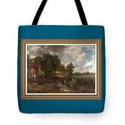 A Tribute To John Constable Catus 1 No. 1 -the Hay Wain L B With Alt. Decorative Ornate Frame. Tote Bag