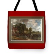 A Tribute To John Constable Catus 1 No.1 - The Hay Wain L A  With Alt. Decorative Ornate Printed Fr  Tote Bag