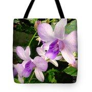 A Trio Of Pale Purple Orchids Tote Bag