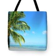 A Tropical Palm Tree Beach Tote Bag
