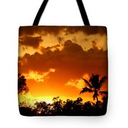 A Tropical Sunset Tote Bag