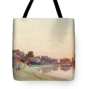 A Twighlight Harbour Scene Tote Bag