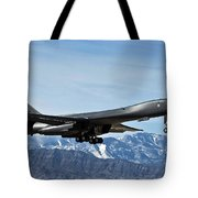 A U.s. Air Force B-1b Lancer Departs Tote Bag by Stocktrek Images
