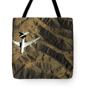 A U.s. Air Force E-3 Sentry Aircraft Tote Bag