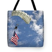 A U.s. Air Force Member Glides Tote Bag