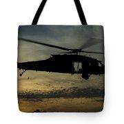 A U.s. Army Uh-60 Black Hawk Leaves Tote Bag