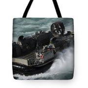A U.s. Navy Landing Craft Air Cushion Tote Bag