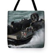 A U.s. Navy Landing Craft Air Cushion Tote Bag by Stocktrek Images