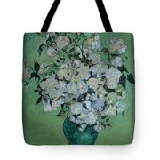 A Vase Of Roses Tote Bag