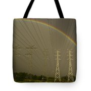 A Vast Array Of Electrical Towers Tote Bag