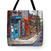 A Vendre Petits Formats L'art De Montreal Originals For Sale Wilensky's Diner Best Montreal Scenes Tote Bag